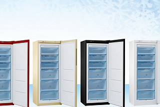Pozis released a vertical freezer with no defrosting technology