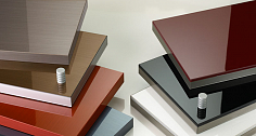 Production of high-gloss panels