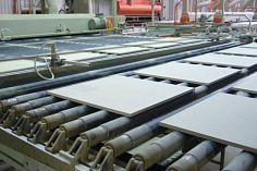 Construction of a plant for the production of ceramic tiles