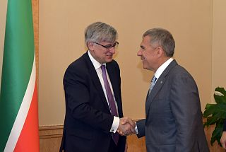 Rustam Minnikhanov at a meeting with Ambassador of Spain to Russia Ignacio Ibanez: Today, it is important to maintain positive relations